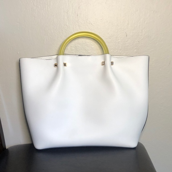 a new day Handbags - NWOT White Top Handle Handbag